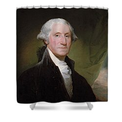 President George Washington Shower Curtain by War Is Hell Store