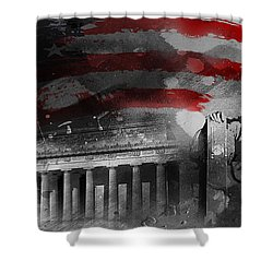 Shower Curtain featuring the painting President Lincoln  by Gull G
