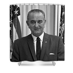 President Lyndon Johnson Shower Curtain by War Is Hell Store