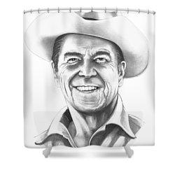 President Ronald Regan Shower Curtain by Murphy Elliott