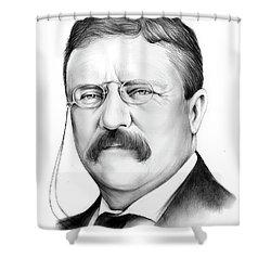 President Theodore Roosevelt 2 Shower Curtain