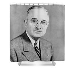 President Truman Shower Curtain by War Is Hell Store