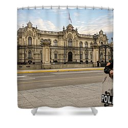 Presidential Palace In Lima Shower Curtain