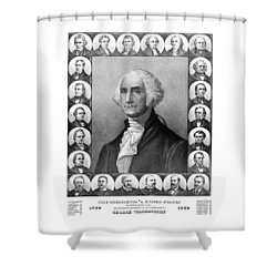 Presidents Of The United States 1789-1889 Shower Curtain