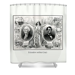 Presidents Washington And Lincoln Shower Curtain by War Is Hell Store