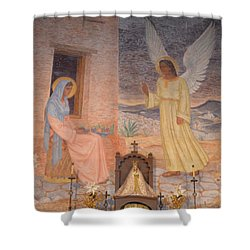 Presidio La Bahia Mission Shower Curtain by Donna Brown