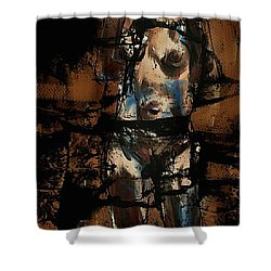 Shower Curtain featuring the painting Pressure Cracked by Jim Vance