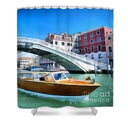 Shower Curtain featuring the photograph Presto Rialto by Jack Torcello