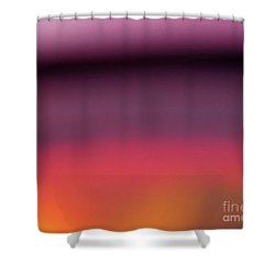 Pretend Sunset Shower Curtain by CML Brown