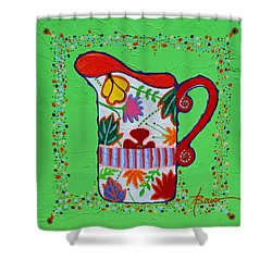 Pretty As A Pitcher Shower Curtain