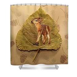Pretty Baby Deer Shower Curtain