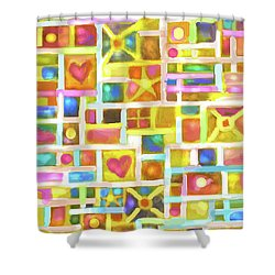 Pretty Boxes Shower Curtain