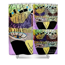 Shower Curtain featuring the mixed media Pretty Boy 2 by Ann Calvo