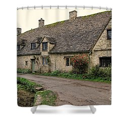Pretty Cottages All In A Row Shower Curtain