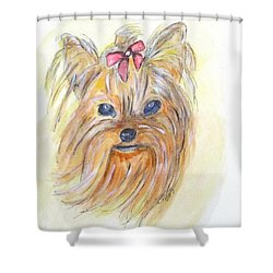 Pretty Girl Shower Curtain by Clyde J Kell