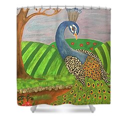 Pretty In Peacock Shower Curtain