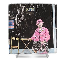 Pretty In Pink Shower Curtain by Esther Newman-Cohen
