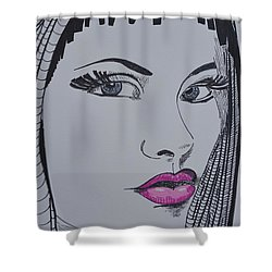 Pretty In Pink Lips Shower Curtain
