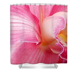 Pretty In Pink Orchid Petals Shower Curtain