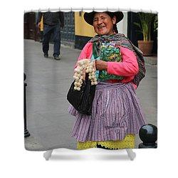 Pretty Lady In Lima Peru Shower Curtain