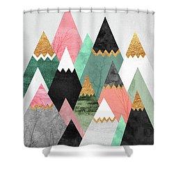 Pretty Mountains Shower Curtain