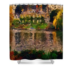 Pretty On The River Shower Curtain