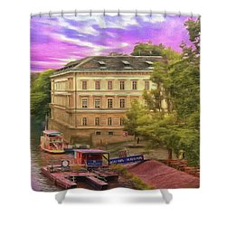 Pretty On The River - Prague Shower Curtain