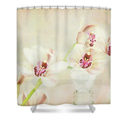 Pretty Orchids Shower Curtain by Kim Andelkovic