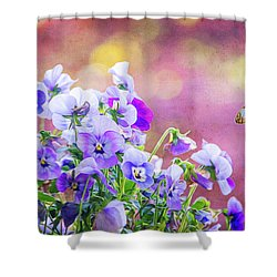 Pretty Pansies Shower Curtain