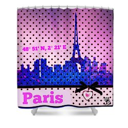 Pretty Paris Mjb Shower Curtain