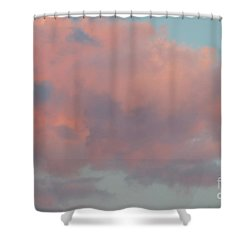 Shower Curtain featuring the photograph Pretty Pink Clouds by Ana V Ramirez