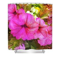 Pretty Pink Petunias Shower Curtain