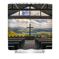 Pretty Place Chapel - Blue Ridge Mountains Sc Shower Curtain