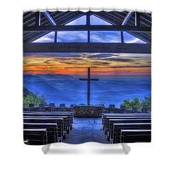 Pretty Place Chapel Sunrise 777  Shower Curtain by Reid Callaway