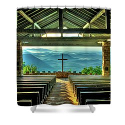 Pretty Place Chapel The Son Has Risen Shower Curtain by Reid Callaway
