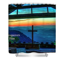 Pretty Place Chapel Through Him Art Shower Curtain