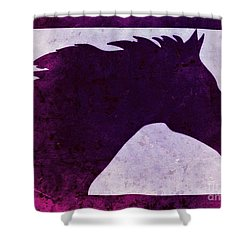 Pretty Purple Horse  Shower Curtain