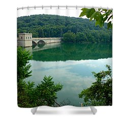 Prettyboy Reservoir Dam Shower Curtain by Mark Dodd