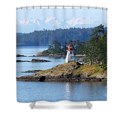 Prevost Island Lighthouse Shower Curtain