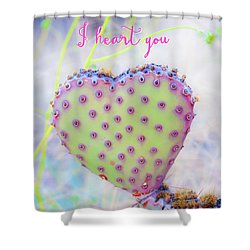 Prickly Heart Shower Curtain by Karen Stephenson
