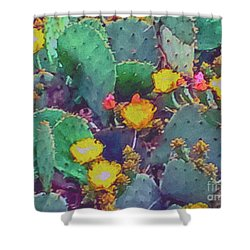Prickly Pear Cactus 2 Shower Curtain