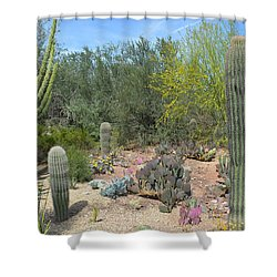 Prickly Pearadise Shower Curtain