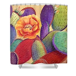 Prickly Rose Garden Shower Curtain