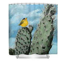 Prickly View - Wildlife Painting Shower Curtain