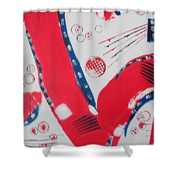 Shower Curtain featuring the painting Pride - Glory - The Patriots by Sharyn Winters