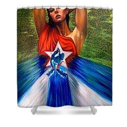 Pride Shower Curtain by Jorge L Martinez Camilleri
