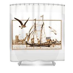 Pride Of Baltimore Shower Curtain by John D Benson