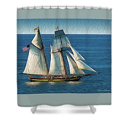 Pride Of Baltimore Shower Curtain
