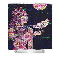 Priestess In Moongarden  Shower Curtain