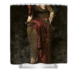 Priestess Of Delphi Shower Curtain by John Collier